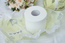 White Virgin Tissue Roll/Lucky Toilet Paper/Soft silky paper