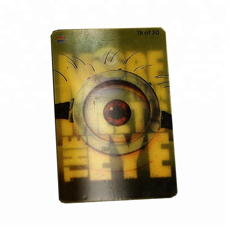 custom plastic Lenticular sheet Printing picture play card