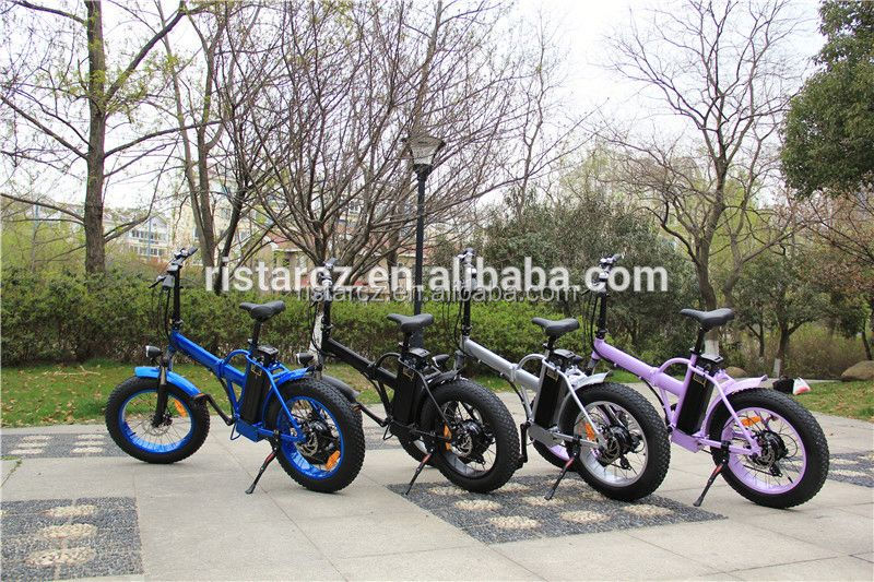 2016 48v 500w Lithium Battery Fat Tire Ebike 20 Inch Folding Electric Bike RSEB507