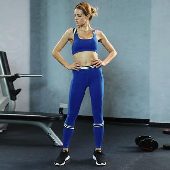e1d3c114e ZC1842 Wholesale OEM factory women workout clothes blue girls yoga pants  gym wear sexy sports suits