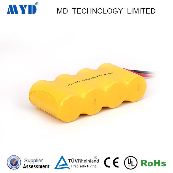 High temperature NICD batery size C 4.8v 2500mah rechargeable cell