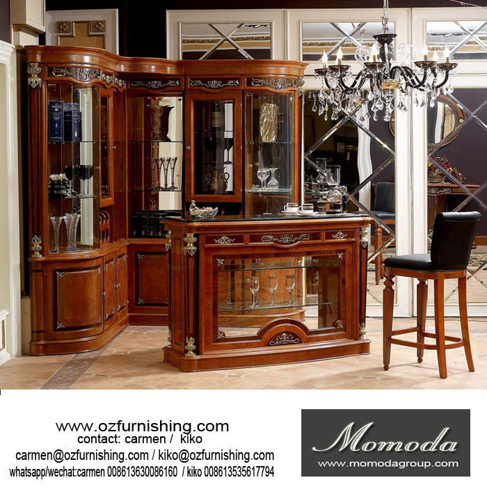 YB29 Victorian Antique Style Wooden Home Wine Cabinet Bar Furniture, Pub Bar Tavern, Club Bar Counter