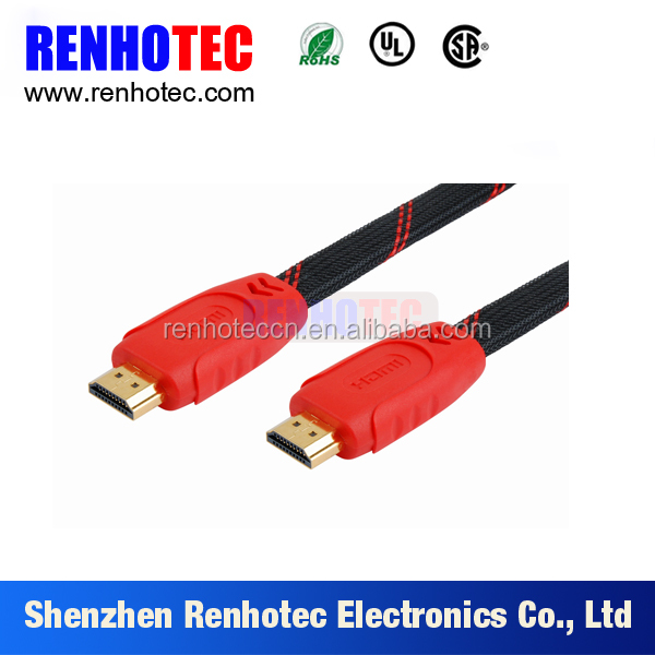 hdmi2.0 V 4K*2K Gold--plated Flat 2.0version HDMI Cable male to male full HD 3D for PS3 XBOX HDTV 0.5m 1.5m 2m 3m 5m 10m 15m 20m