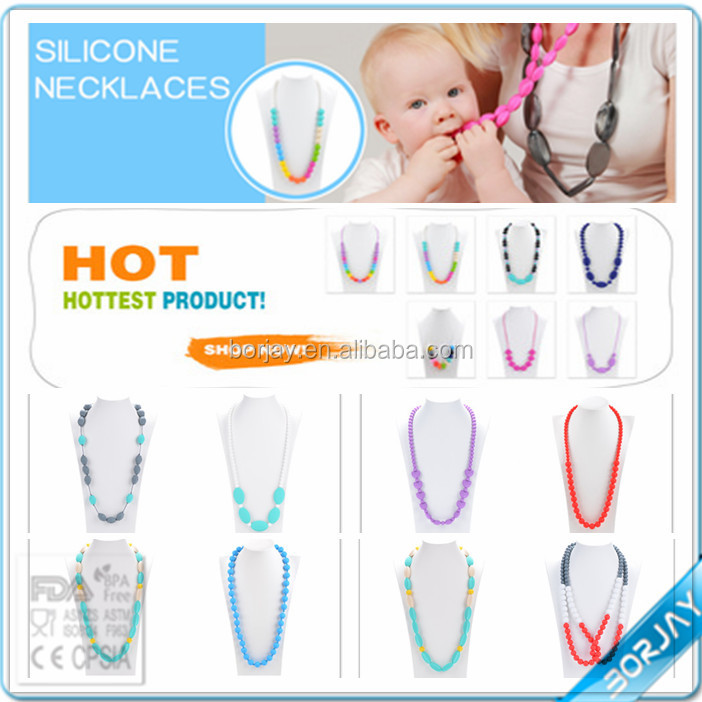 baby teething necklace wholesale silicone