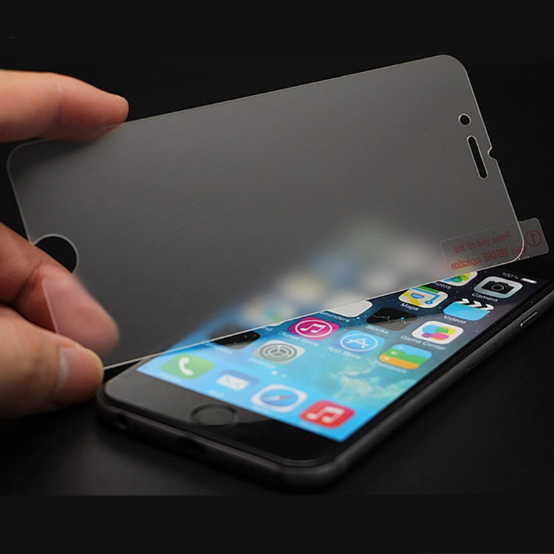 Dull polish frosted full covered curved edge 9H 2.5D 0.26mm matte tempered glass film screen protector for iPhone 6S