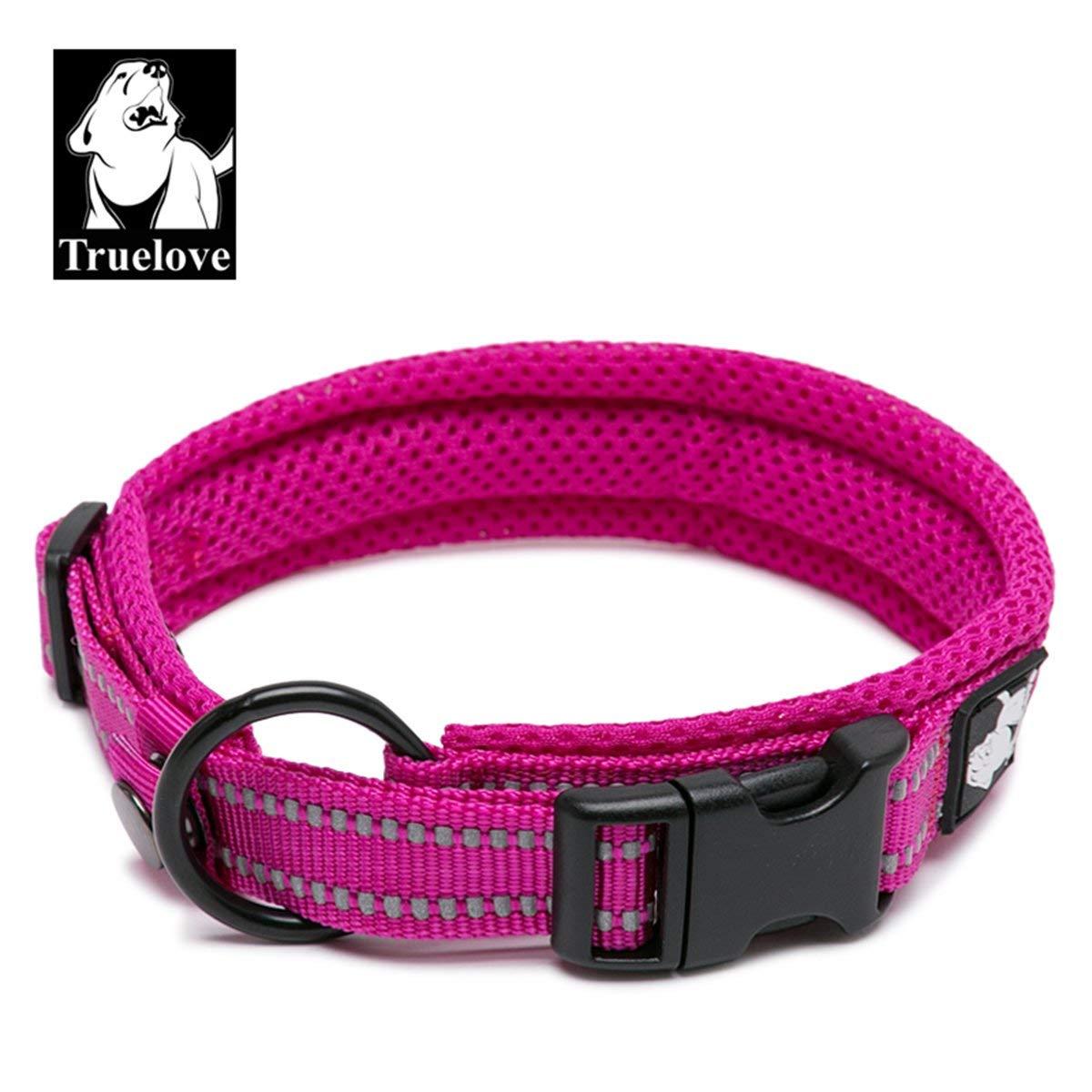 Truelove Dog Training Collar TLC5011 Reflective Premium Duraflex Buckle,High Grade Nylon Webbing No Choke Basic Collars Now Available