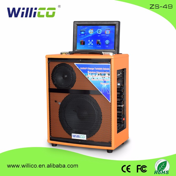 Alto-falante bt portátil portátil Willico com DVD & SCREEN