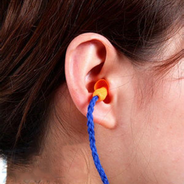 Nice силикон синий беруши ухо шнур со шнуром многоразовые слуховой аппарат