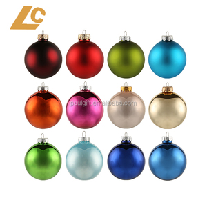 Multi Color Matt Reflective Shiny Christmas Plastic Ornaments Balls Large and Small