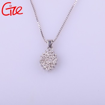 hot sale rhombus shape new design fashion gold pendant jewelry necklace