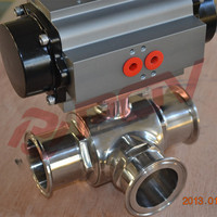ss316 weld food grade 3 way ball valve symbol in china