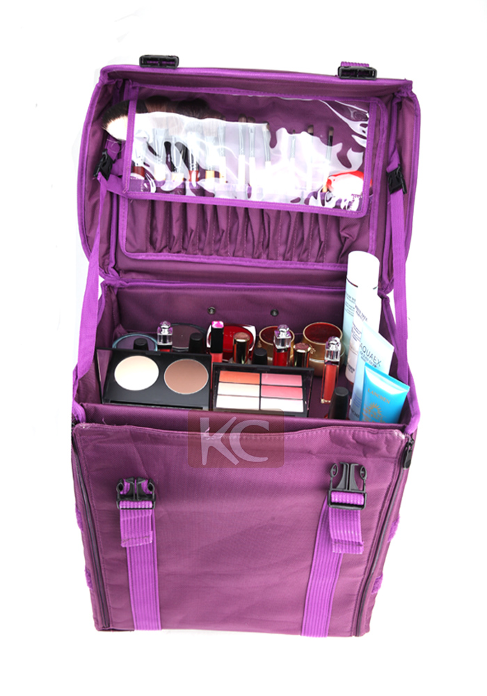 Hot Recommend Nylon Beauty Trolley Makeup Artist bag,trolley beauty bag
