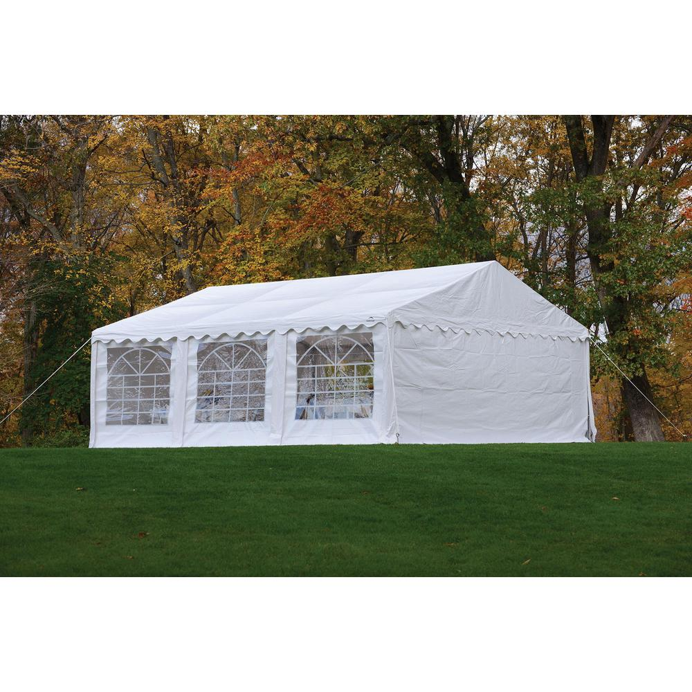 10 ft. x 20 ft. White Party Tent with Enclosure Kit
