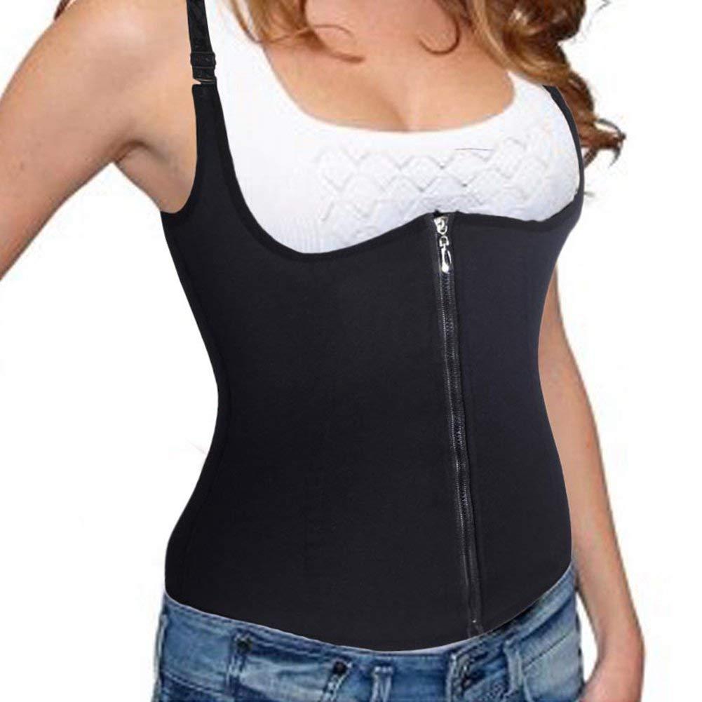 e0483044c1 MZjJPN Adjustable Shoulder Strap Waist Trainer Vest Corset Women Zipper  Hook Body Shaper Waist Cincher Tummy