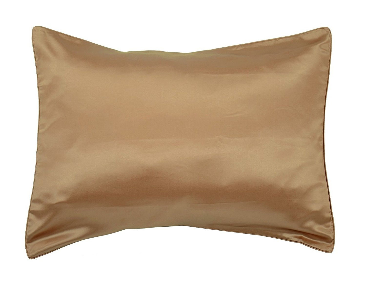 Empress Silk-Pure Mulberry Silk Charmeuse Pillowcase-19 Momme Weight/Bronze/size Queen
