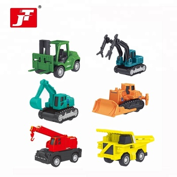 mixed color cheap pull back construction car toy vehicles for kids