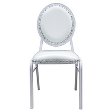 Modern white round back aluminum restaurant chair aluminum chair for sales