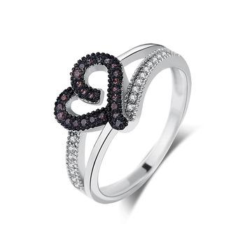 Desain Kreatif Cinta Bentuk Cincin Kawin Romantis Perhiasan Cincin Pertunangan Berlian Untuk Wanita Buy Cincin Kawin Cincin Perhiasan Wanita 925