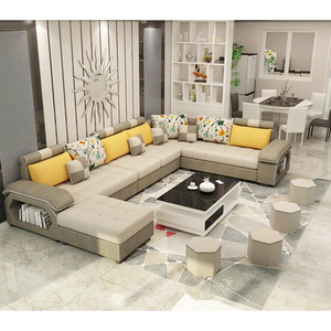 L Shape Commercial 7 Seater Modern Sectional Sofa