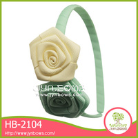 Jynbows Ribbon rose flower,covered ribbon hairband/headband,rose hairband