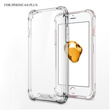 High quality Ultra Clear Crystal Transparent TPU PC protective cool Phone Cases for iPhone 6 covers