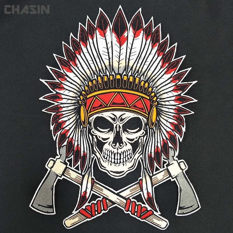 Factory custom large biker motorcycle vest back embroidery patches for cloths