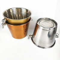Promotion Metal champagne Beer Ice Bucket Custom Bulk China Stainless Steel Ice Bucket