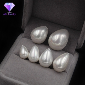 Low Price Sale Half Hole White Drop shape Shell Pearl