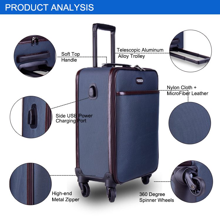 Hardside Luggage Luggage & Travel Bags Thick Aluminum Alloy Rolling Luggage Fashion Suitcase Mute Caster Boarding Password Box Large Capacity Ample Supply And Prompt Delivery