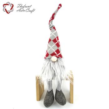 wholesale sitting decor toy gnome felt decoration christmas gnome plush - Christmas Gnome