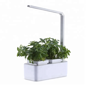 Indoor Growing Herbs Planters Small Flower Pot Hydro Self Watering