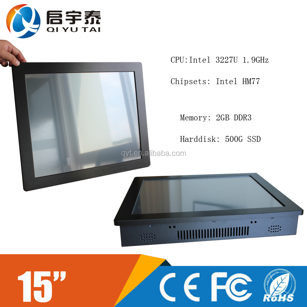 industrial touch screen panel pc with intel i7 processor and HM77 chipset for 3G/WIFI/LVDS