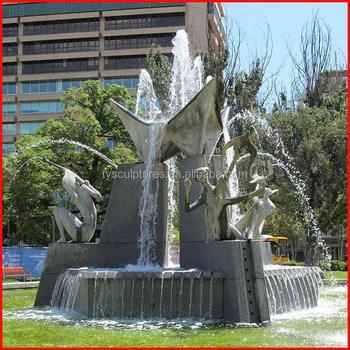 Beau Piedra única Estatua Figura Abstracta Granito Cuadrado Fuentes De Agua Para  La Venta