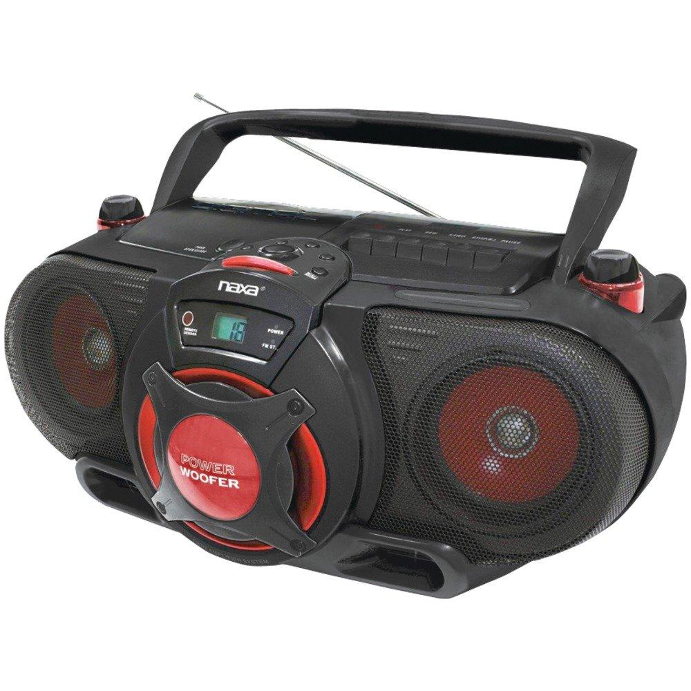 NAXA NPB259 Portable CD/MP3 & Cassette Player & AM/FM Radio with Subwoofer Consumer electronic by Naxa Electronics