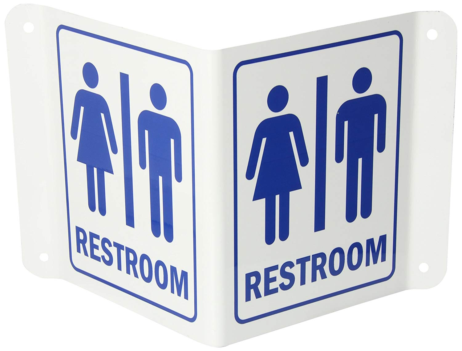 5 Width 4 Height SmartSign S-4613-AV-06 Visitors Welcome Please Sign in at Office Projecting Aluminum V-Sign 6 Length