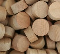 "WIDGETCO 1/2"" Cherry Wood Plugs, Face Grain"