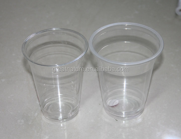 Plastic PET cup for shakes, juice, smoothie