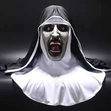Die Nonne <span class=keywords><strong>Horror</strong></span> Cosplay Valak Scary Masken mit Kopftuch Halloween <span class=keywords><strong>Maske</strong></span> Latex QMLM--2006