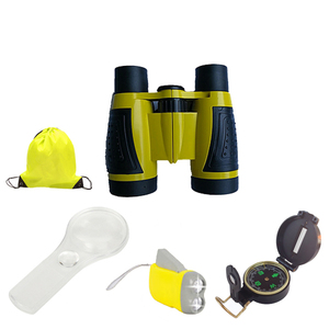 JAXY cheap 4x30 binocular for kids toy binocular plastic adventure binocular kits