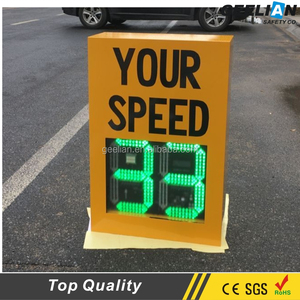 Reflective aluminum Remote control outdoor solar radar speed limit sign