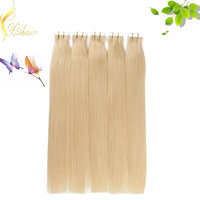Hot Sale blonde brazilian 100% Human Remy tape in hair Extension