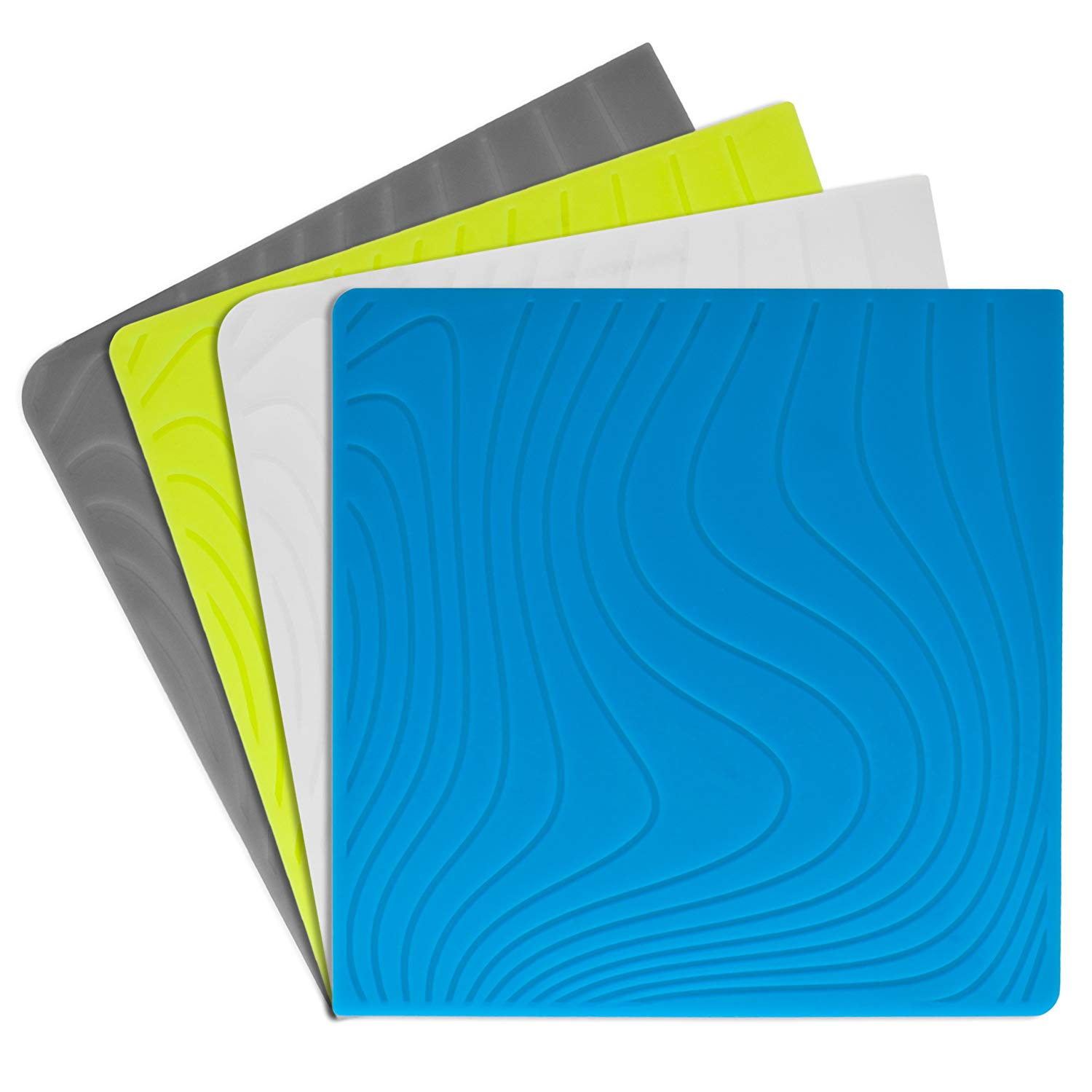 Modern-twist Coaster Notz Silicone Coasters, Studio, Tide, Set of 4