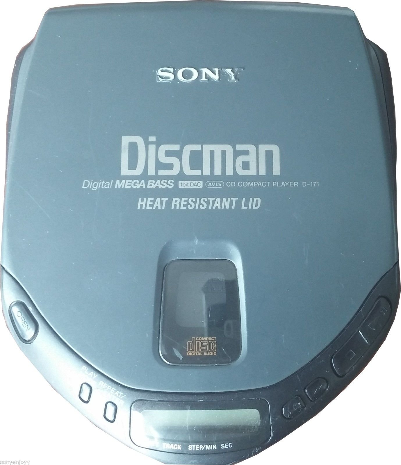 SONY Discman D-171 Portable Programmable CD Player with Mega Bass 1 Bit DAC