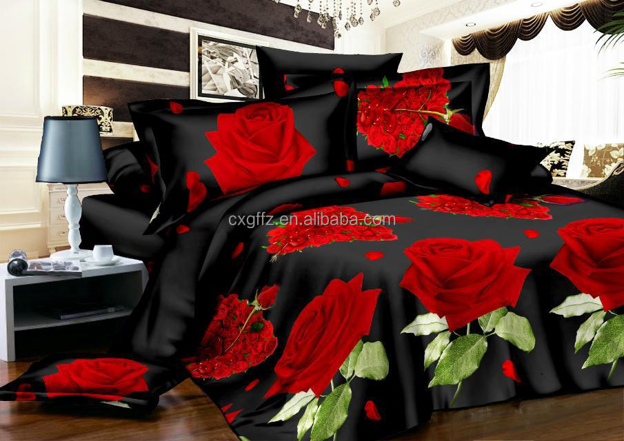 3D print polyester bedding sets 7pc set
