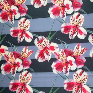 High quality printed 4way stretch fabric polyester stretch fabric