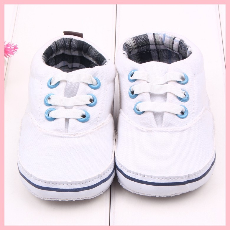 New arrival plain white baby shoes/baby sport shoes