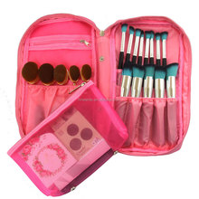 Electric hot sell explosion, portable 25 brush set new professional makeup brush bag high-capacity portable zipper