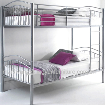 Grey Full Over Queen Size Heavy Duty Futon Double Metal Bunk Bed