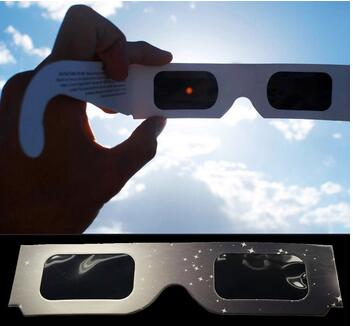 Wholesale custome logo paper material 3d solar eclipse glasses for eclipse