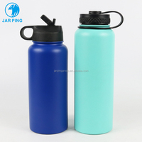 Vacuum Flask Insulated Stainless Steel Thermos Wide Mouth Water Bottle Powder Coated JP-104A-11